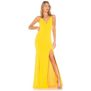 Jay Godfrey Kimberly Gown in Lemon